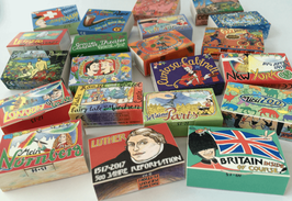 Assorted matchboxes