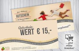 Südwest-Gutschein im Wert von € 15,-