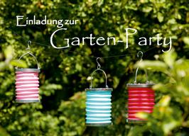 """Sommerfest und Gartenparty """"Lampions"""""""