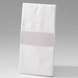 8er-Bogen Taschentuch-Halterung-Banderole perlmutt (à 0,20 €) aus Kartenserie Raffaela (Bel723891D)