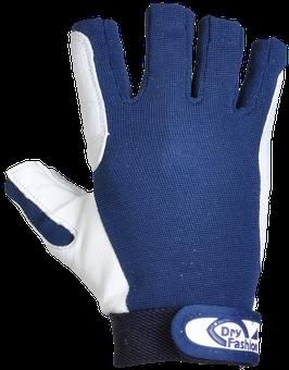 Dry Fashion Leder-Segelhandschuhe OHNE Fingerkuppen