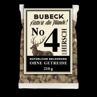 Bubeck - No. 4 mit Hirsch - getreidefrei - Hundekuchen-210g