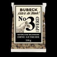 Bubeck - No. 3 mit Pferd - getreidefrei - Hundekuchen-210g