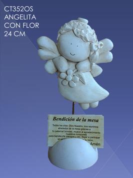 CT352OS ANGELITA CON FLOR
