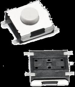 Microschalter / Taktschalter SMD 6,0mm x 6,0mm x 3,1mm (Länge x Breite x Höhe)