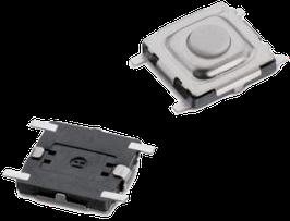 Microschalter / Taktschalter SMD 5,0mm x 5,0mm x 1,5mm (Länge x Breite x Höhe)