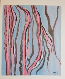 """""""Spiegelung in rosé-pink"""" von Ursa"""