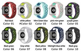 Cinturini in gomma/silicone sport compatibili Apple Watch cassa 42mm