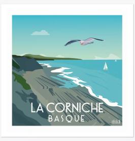 Affiche Hekikaii - Corniche Basque