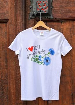 Damen T-Shirt Kornblume, Sujet gross