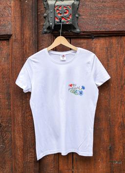 Damen T-Shirt Kornblume, Sujet klein