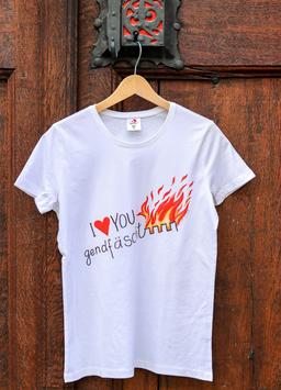 Damen T-Shirt Feuer, Sujet gross