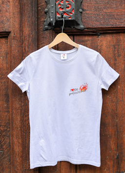 Damen T-Shirt Feuer, Sujet klein