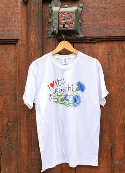 Herren T-Shirt Kornblume, Sujet gross