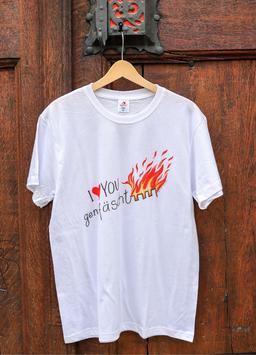 Herren T-Shirt Feuer, Sujet gross