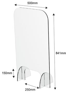 AR900300 | PLEIXISCHUTZSCHEIBE HOCH-SCHMAL | 841Hx500Bx225Tmm