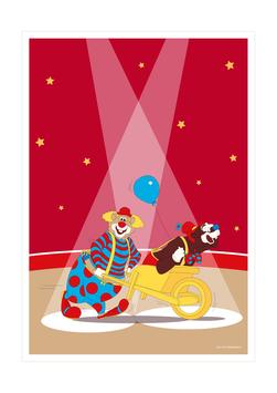 Affiche duo de clowns