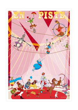 Affiche troupe cirque