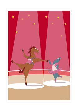 Affiche duo de danseurs