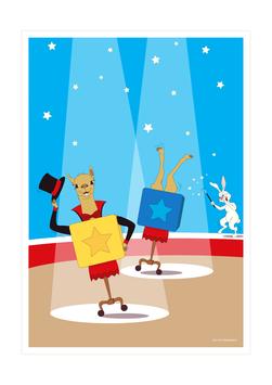 Affiche duo de magiciens