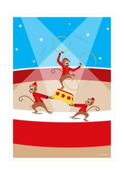 Affiche garçons de cirque