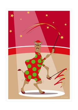 Affiche dromadaire gymnaste