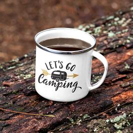 Emaille Tasse Let´s go Camping
