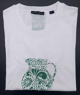 "Ak-Herren - organic Bembel-Shirt ""grün auf weiß"""