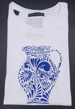 "Ak-Damen - organic Bembel-Shirt ""blau auf weiß"""