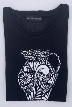 """Ak-Damen  - organic Bembel-Shirt """"weiß auf schwarz"""""""