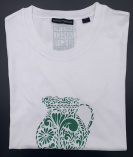 "Ak-Männer - organic Bembel-Shirt ""grün auf weiß"""