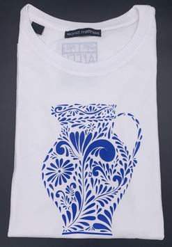 "Ak-Herren - organic Bembel-Shirt ""blau auf weiß"""