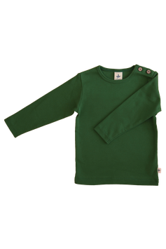 Leela Cotton Langarmshirt Moosgrün