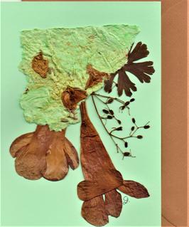 """3er Set Blüten-Faltkarten """"mint is in"""" BSP14"""