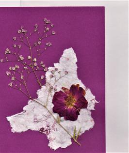 """3er Set Blüten-Faltkarten """"pink is in"""" BSP12"""