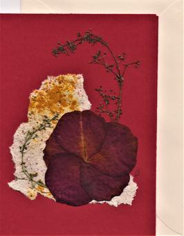"""3er Set Blüten-Faltkarten """"ladies in red"""" BSP7"""