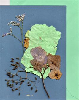 """3er Set Blüten-Faltkarten """"beautiful mint"""" BSP9"""