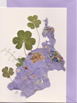 """3er Set Blüten-Faltkarten """"violet dreams"""" BSP6"""