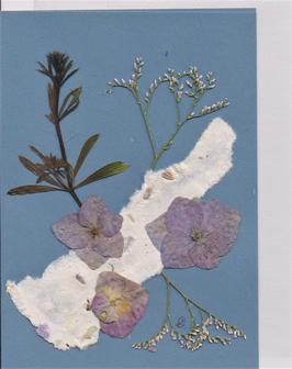 """3er Set Blüten-Faltkarten """"blue boys"""" BSP2"""