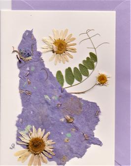 "3er Set Blüten-Faltkarten ""magic violet"" BSP17"