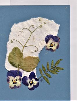 """3er Set Blüten-Faltkarten """"blue times"""" BSP18"""
