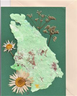 """3er Set Blüten-Faltkarten """"green boys"""" BSP4"""