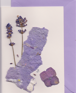 """3er Set Blüten-Faltkarten """"violet kisses"""" BSP3"""