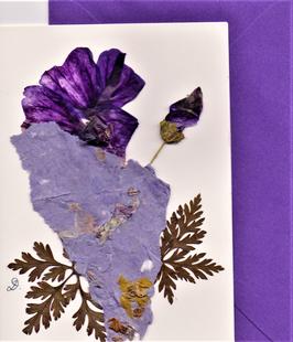 """3er Set Blüten-Faltkarten """"lila Träume"""" BSP8"""