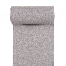 0,5m Bündchen - Uni - Grau Meliert