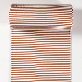 0,5m Bündchen - Streifen - Rost