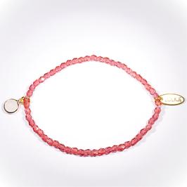Palermo armband oud roze met lichtroze bedel