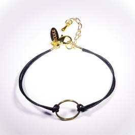 Firenze armband zwart cirkel
