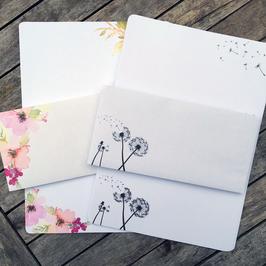 Florales Briefset & Pusteblume