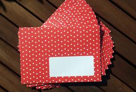 10 Sternchen-Briefumschläge rot